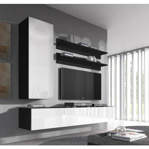 conjunto meubles nerea negro blanco h1