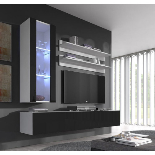 conjunto meubles nerea blanco negro h2