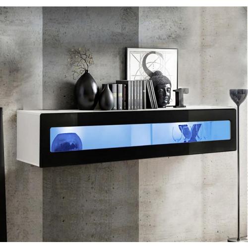 mueble tv kaira h150cr blanco negro